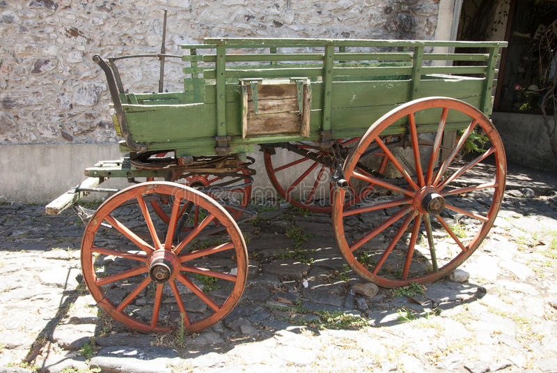 Download Vintage - Wooden Wagon stock photo. Image of rusty, green - 52663042