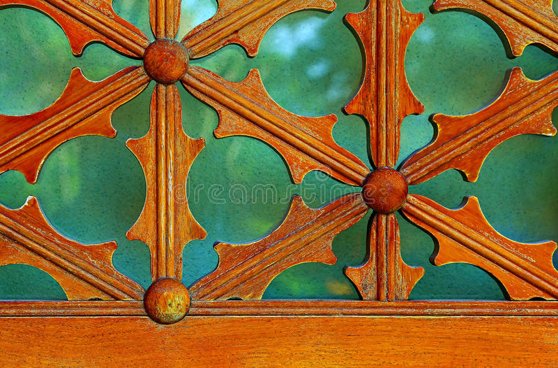 Vintage wooden window frame details. royalty free stock image