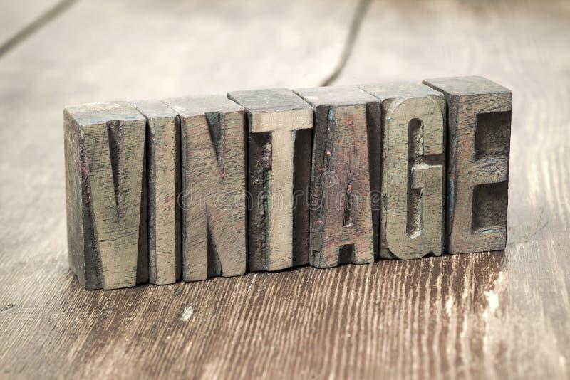 Vintage word wood royalty free stock image
