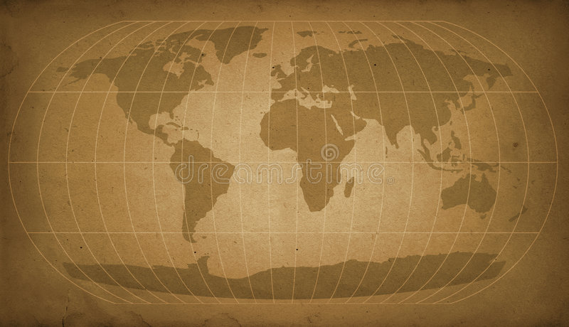 Vintage world map vector illustration