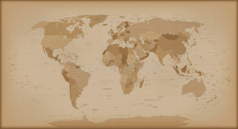 Vintage world map stock vector illustration of abstract 67465939 download vintage world map stock vector illustration of abstract 67465939 gumiabroncs Images