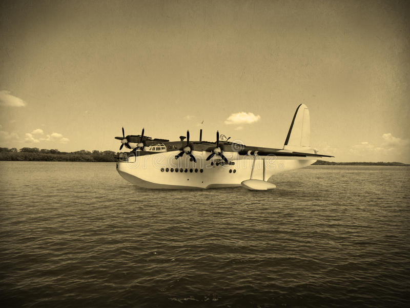 Vintage World War 2 flying boat stock photography