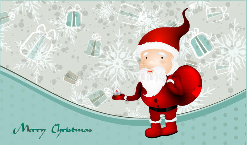 Download Vintage X-mas Card With Santa Claus Stock Vector - Image: 21961254