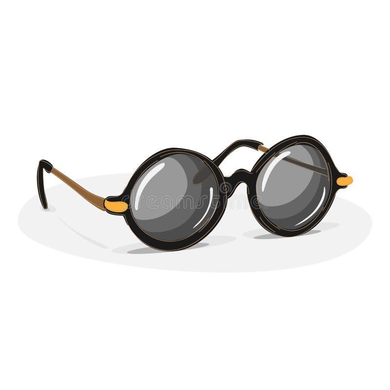 Vintage Y Gafas De Sol Redondas Retras De La Lente Del Marco ...
