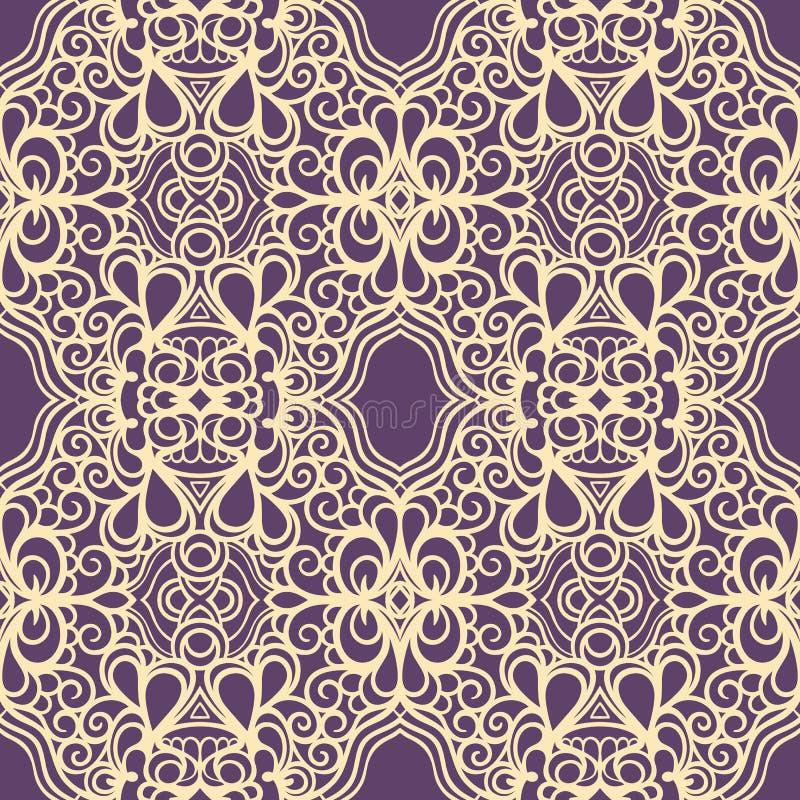 Free Vintage Yellow And Purple Pattern Stock Photo - 35800650