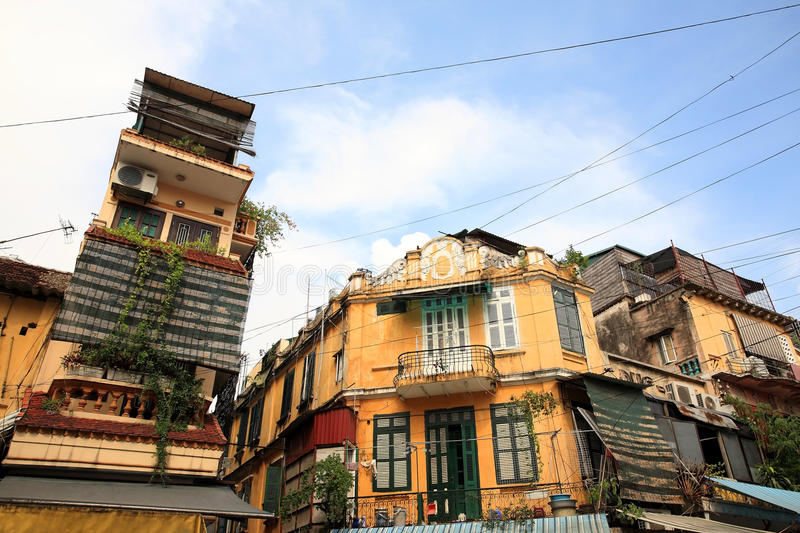 Vintage yellow buildings in europe style