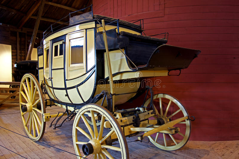 Vintage Yellow Stagecoach stock photography