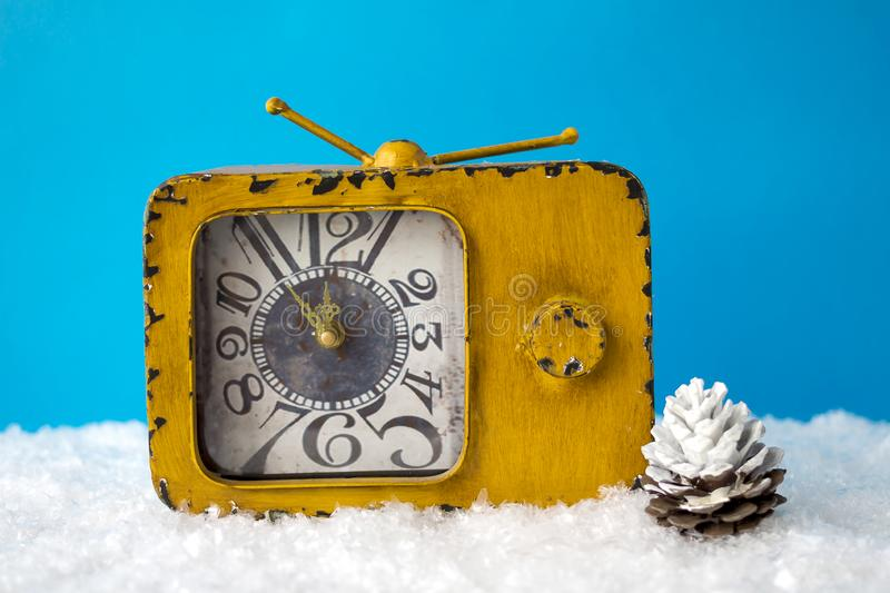 Waiting for the holiday. Christmas composition. stock image