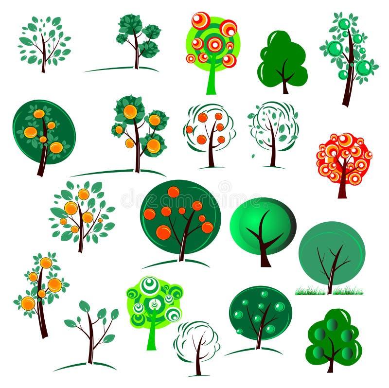 Vinte árvores ilustração royalty free