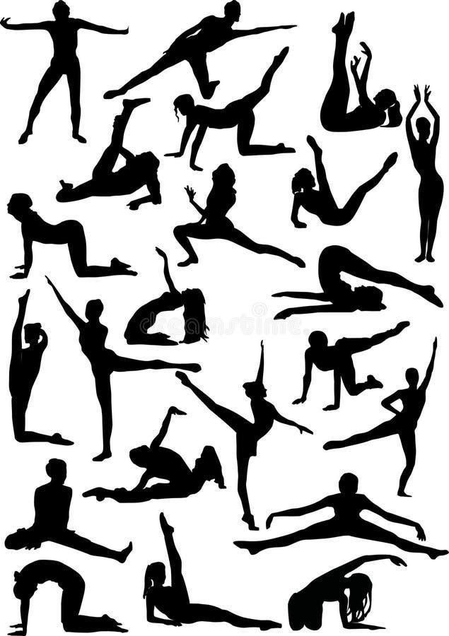 Vinte e dois dansers ilustração do vetor