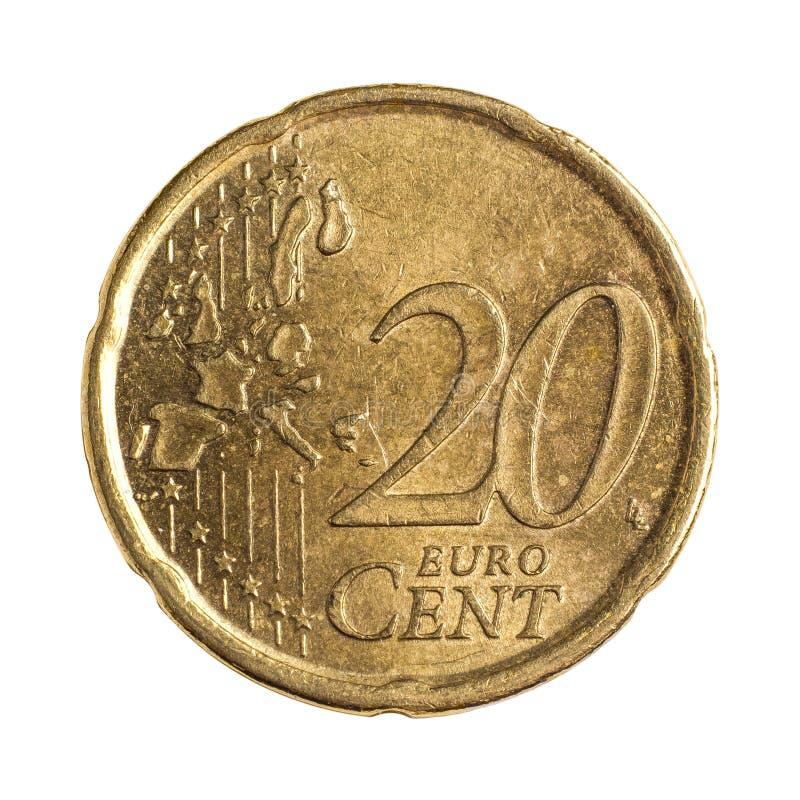 Vinte euro- centavos foto de stock royalty free