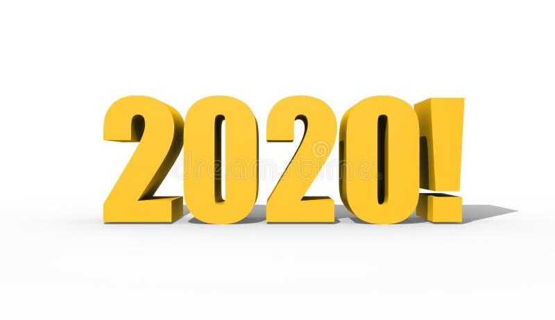 Vinte vinte ou dois mil vinte figuras em um fundo branco ilustração do vetor