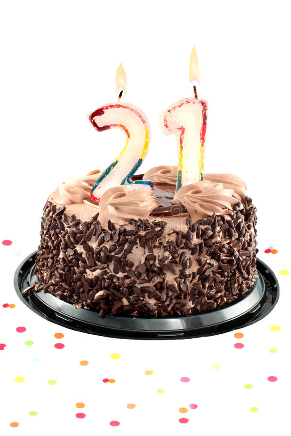 Vinte primeiro aniversário ou aniversário imagem de stock royalty free