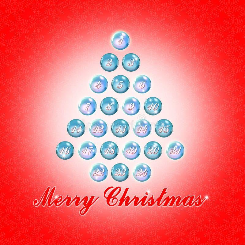 Vinte quatro dias até o Natal - imagem do conceito com árvore de Natal fotos de stock