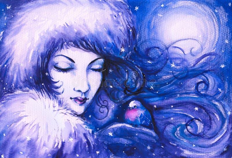 vinter royaltyfri illustrationer