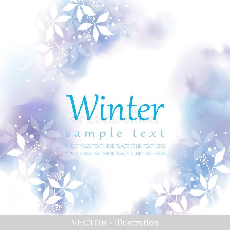 Vinter. stock illustrationer