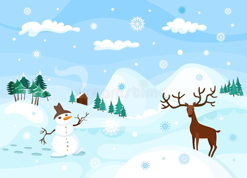 Vinter stock illustrationer