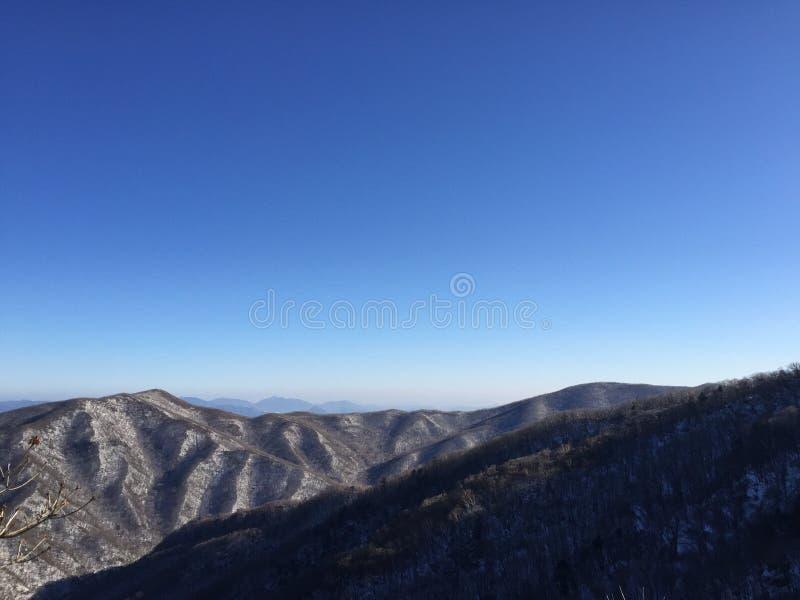 Vinter av det Korea berget royaltyfria bilder
