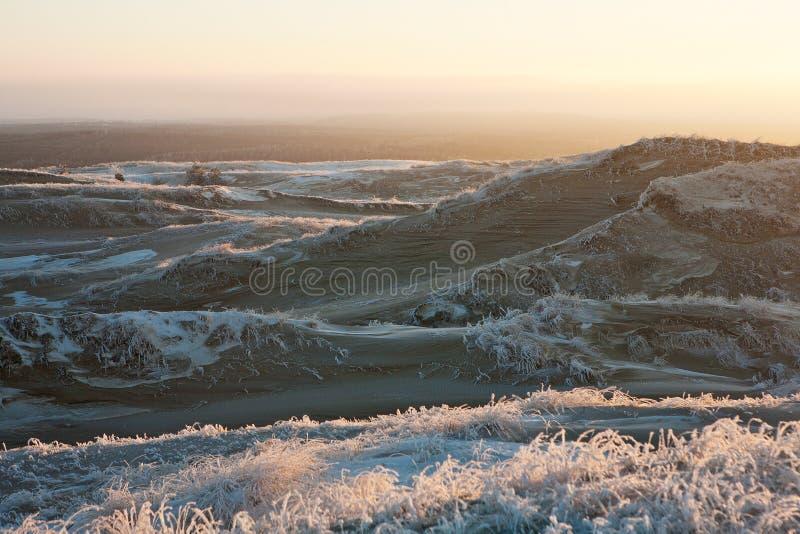 Vinter dunes3 fotografering för bildbyråer