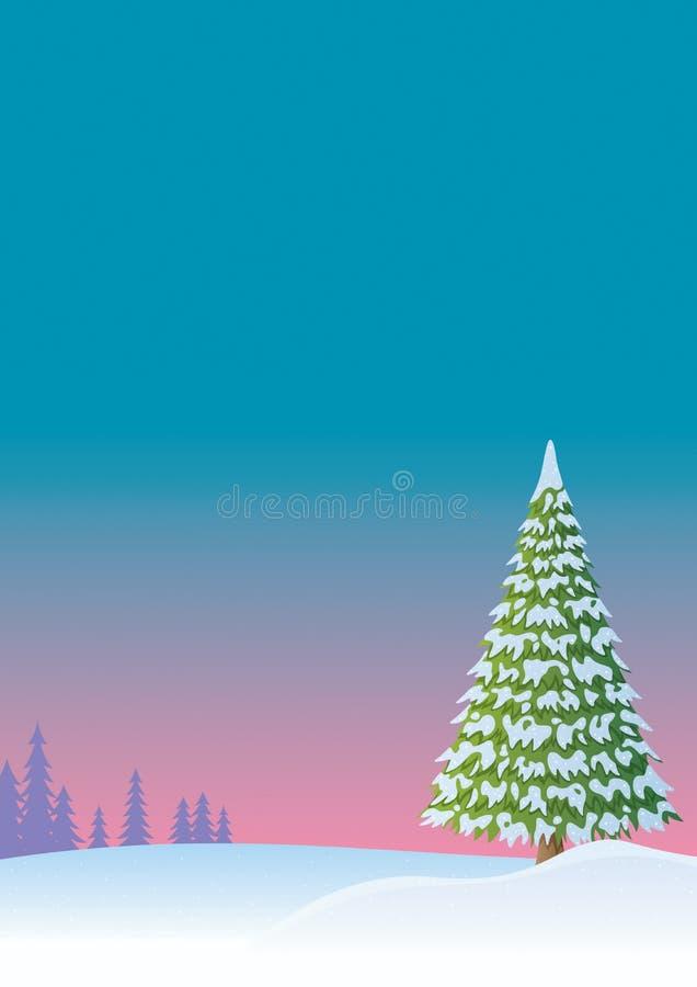 vinter för 2 bakgrund stock illustrationer
