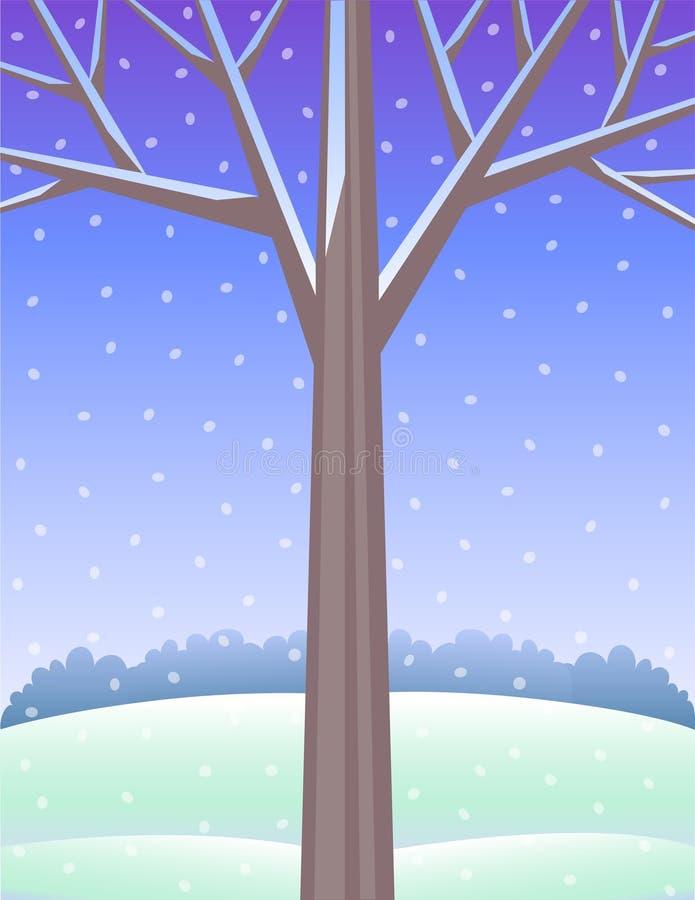 vinter för bakgrundseps-tree vektor illustrationer