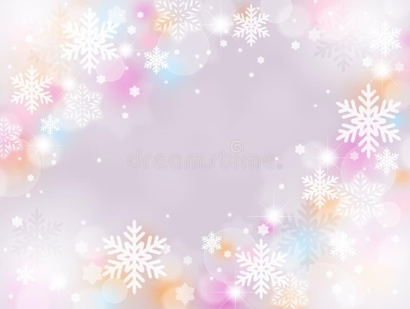 vinter för bakgrundsvägsnow royaltyfri illustrationer