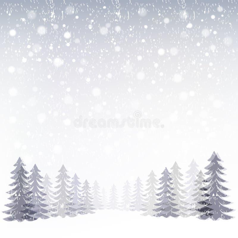 vinter för blåa snowflakes för bakgrund vit stock illustrationer