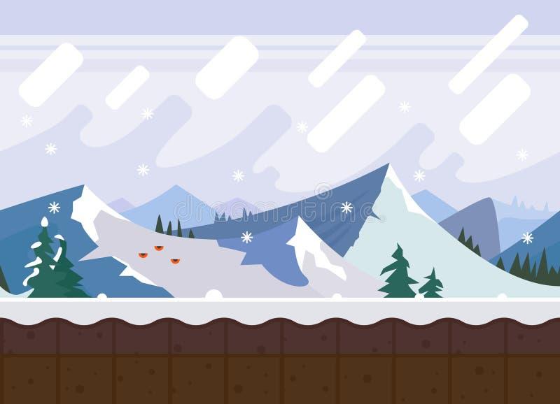 vinter för caucasus georgia gudauriberg vektor illustrationer