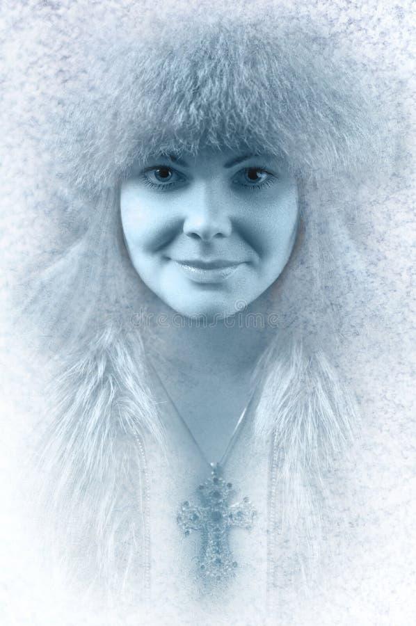 vinter för hög key makeup för konstskönhetmode perfekt royaltyfri bild