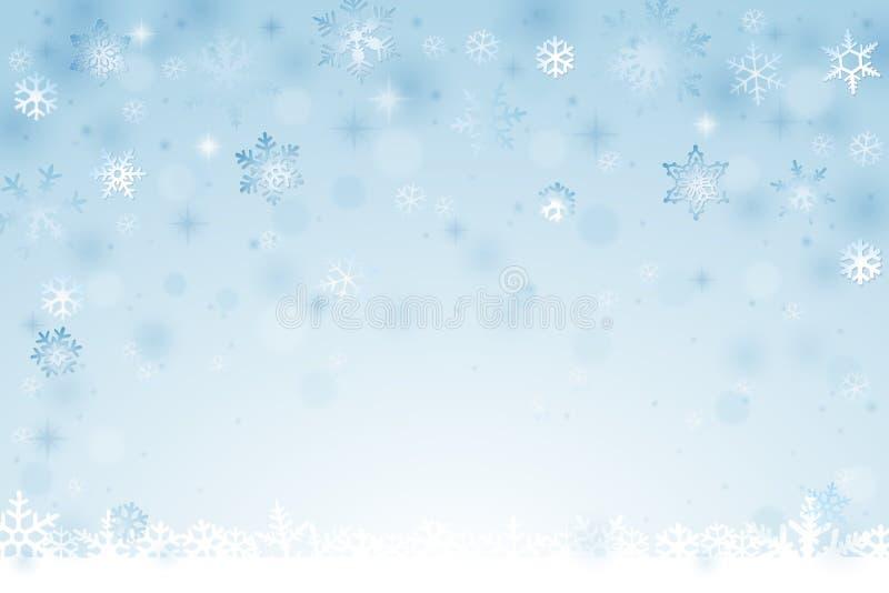 vinter för illustration för bakgrundsjuldesign vektor illustrationer
