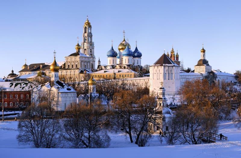vinter för klosterposadsergiev arkivfoto