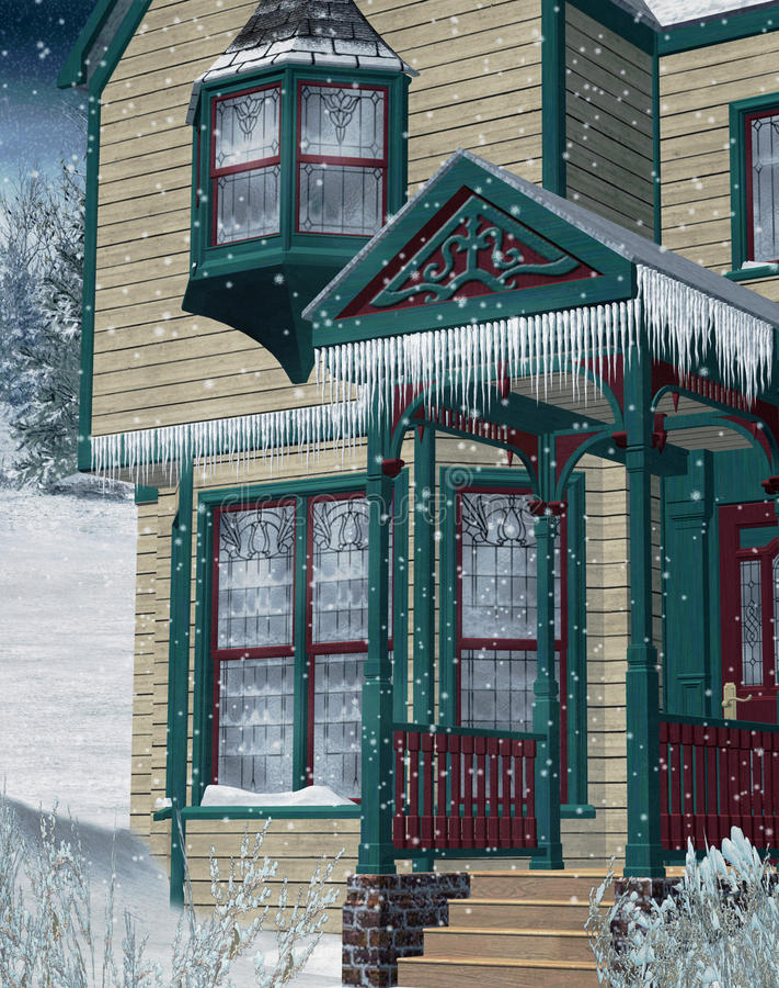 vinter för landskap 2 stock illustrationer