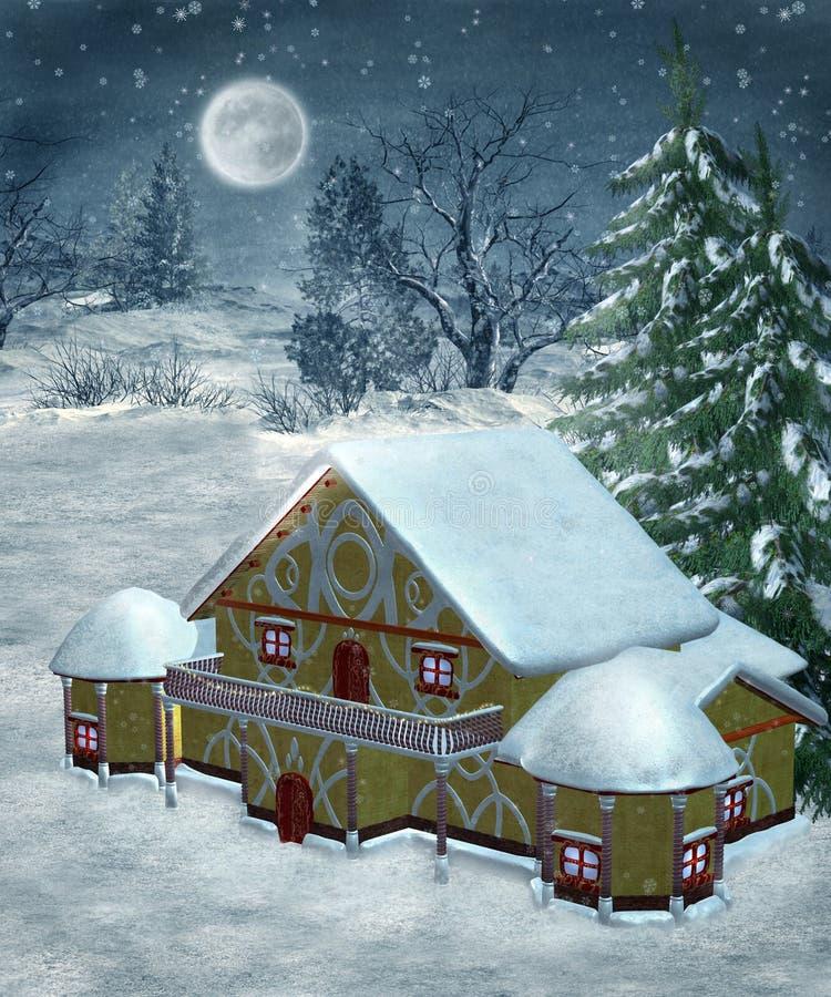 vinter för landskap 29 royaltyfri illustrationer