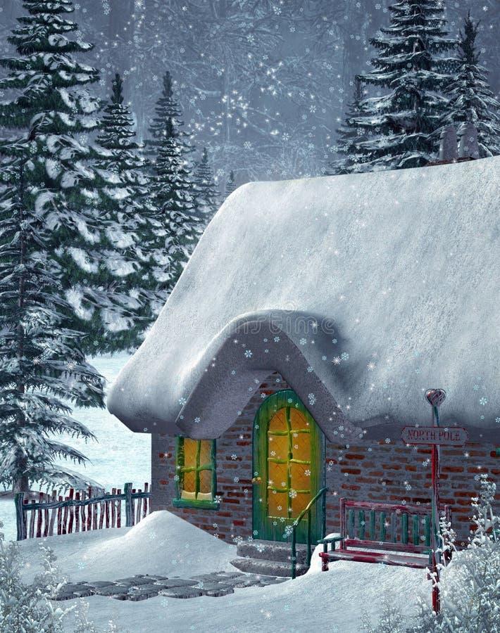 vinter för landskap 4 vektor illustrationer