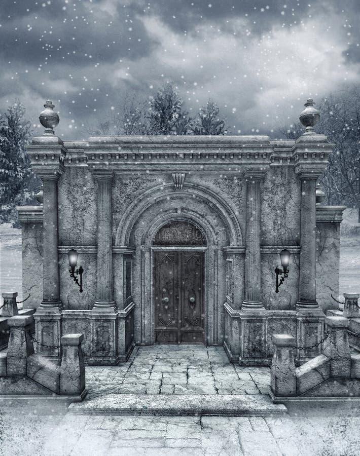 vinter för landskap 6 royaltyfri illustrationer