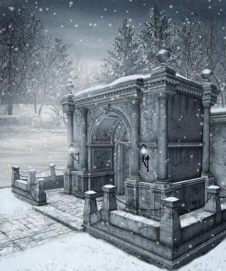 vinter för landskap 9 royaltyfri illustrationer