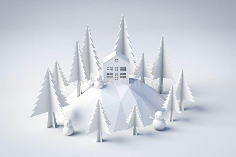 vinter för modell 3d och julbegrepp arkivbild