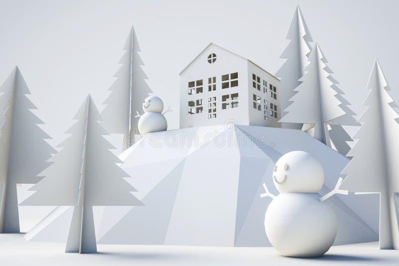 vinter för modell 3d och julbegrepp arkivfoton