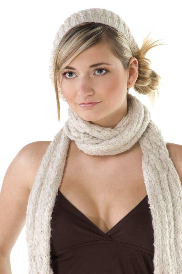 vinter för modemodell fotografering för bildbyråer
