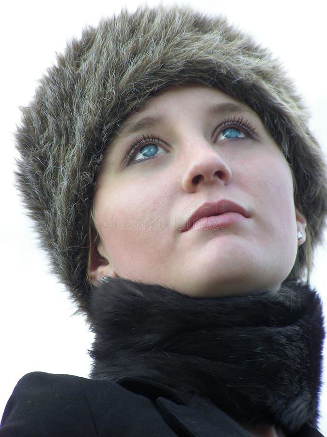 vinter för pälshatt royaltyfri fotografi