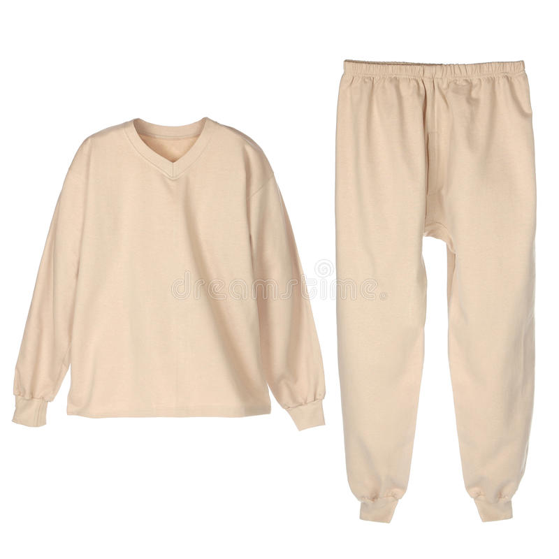 vinter för set underkläder för beije varm arkivbilder