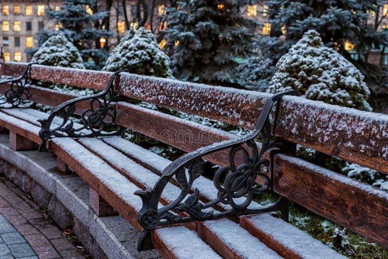vinter för solnedgång för aftonberg s ural fotografering för bildbyråer