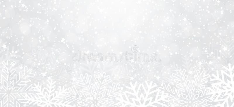 vinter för vektor för bakgrundsillustrationsnowflakes vektor illustrationer