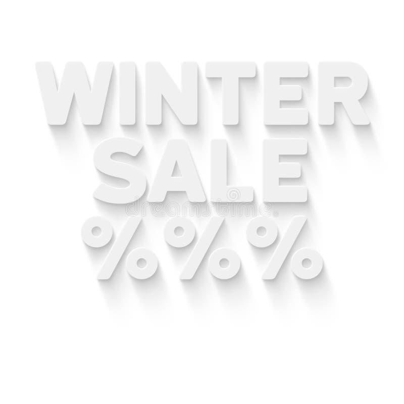 vinter för vektor för bakgrundsförsäljningstext stock illustrationer