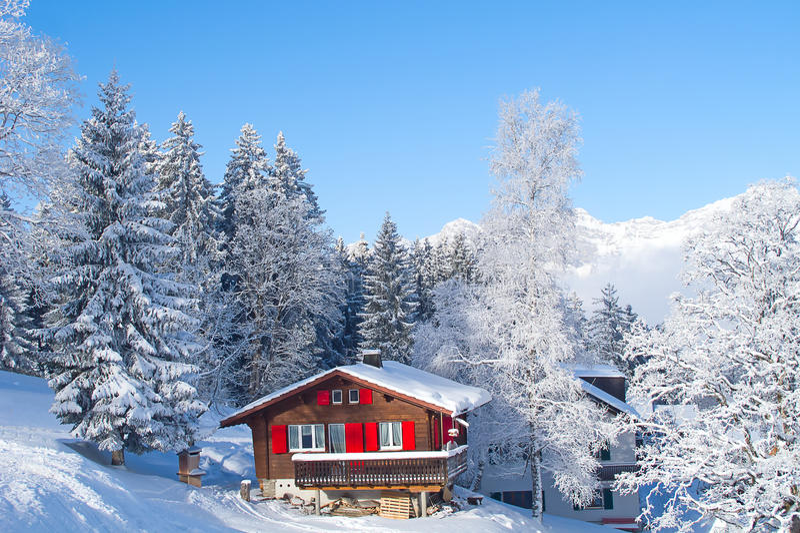 Vinter i alps arkivbilder