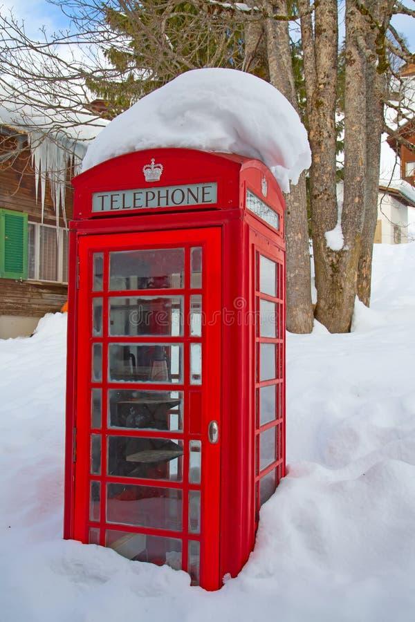 Vinter i alps arkivbild