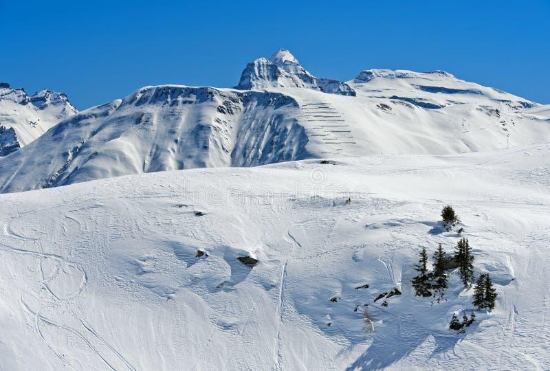 Vinter i alpsna arkivbild