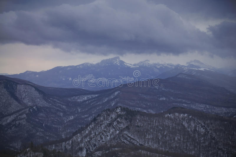 Vinter i Kaukasuset arkivbilder