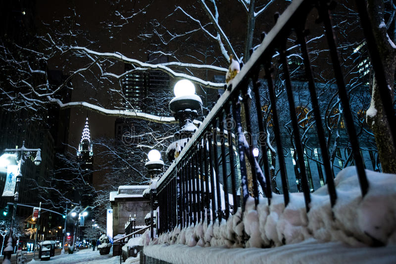 Vinter i New York City royaltyfria bilder