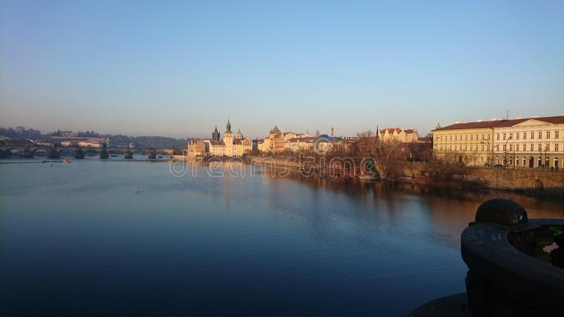 Vinter i Praha royaltyfri bild